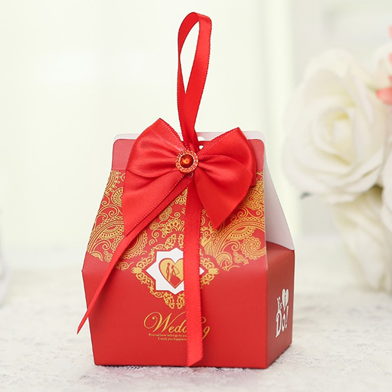 Wedding Preservation Boxes: Europe Style Wedding Gift Box Candy Storage Box With Bow