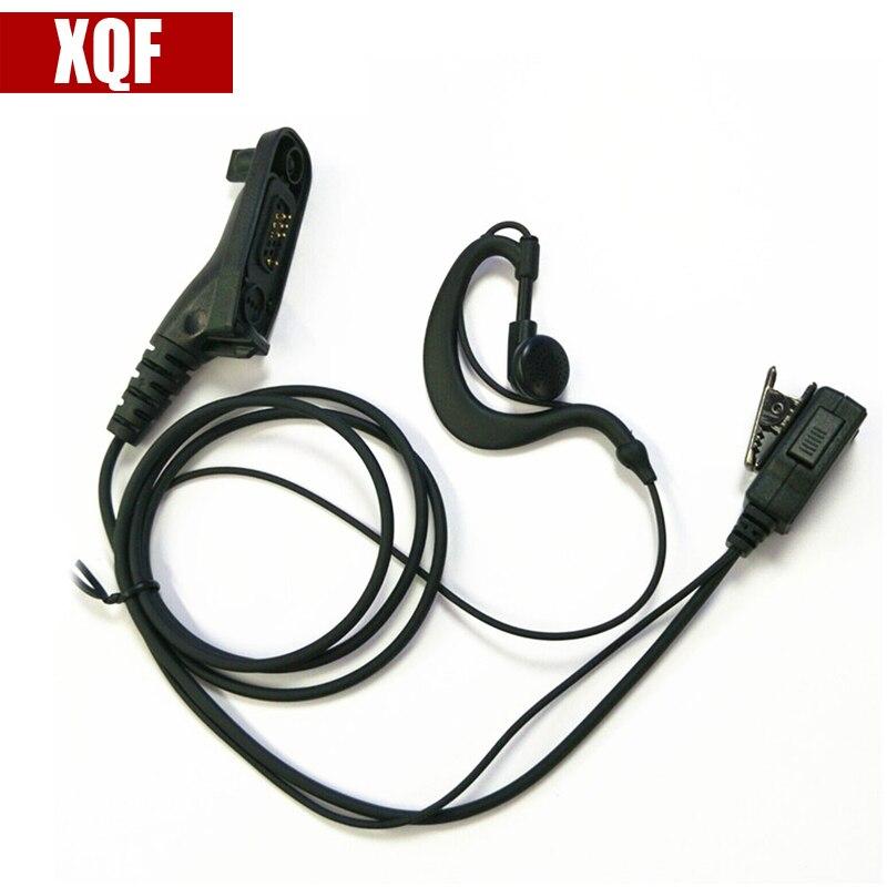 XQF Hanging Hang Earpiece PTT Earphone Headset Surveillance Mic For Motorola XIR P8268/P8260/8600/8200/ DP3400/XPR6550 Radio