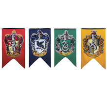 College Flag Harri Potter Party Supplies Banners Gryffindor Slytherin Hufflerpuff Ravenclaw Kids Toys magic Home Decoration
