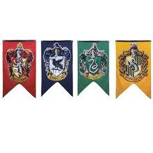 College Flag Harri Potter Party Supplies Banners Gryffindor Slytherin Hufflerpuff Ravencla