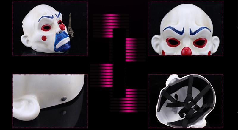High Quality Resin Clown Mask Halloween Christmas Cosplay Costume Party Mask Movie Theme Jack Napier Batman Joker Masks9