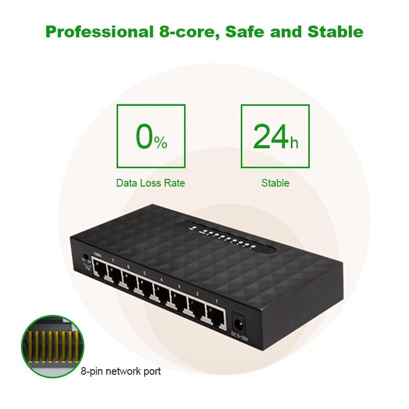 8 Port Gigabit Ethernet Netzwerk Switch 10/100/100 0 Mbps Switcher Desktop Netzwerk Schalter Lan Hub/ Voll-oder Halb Duplex Austausch