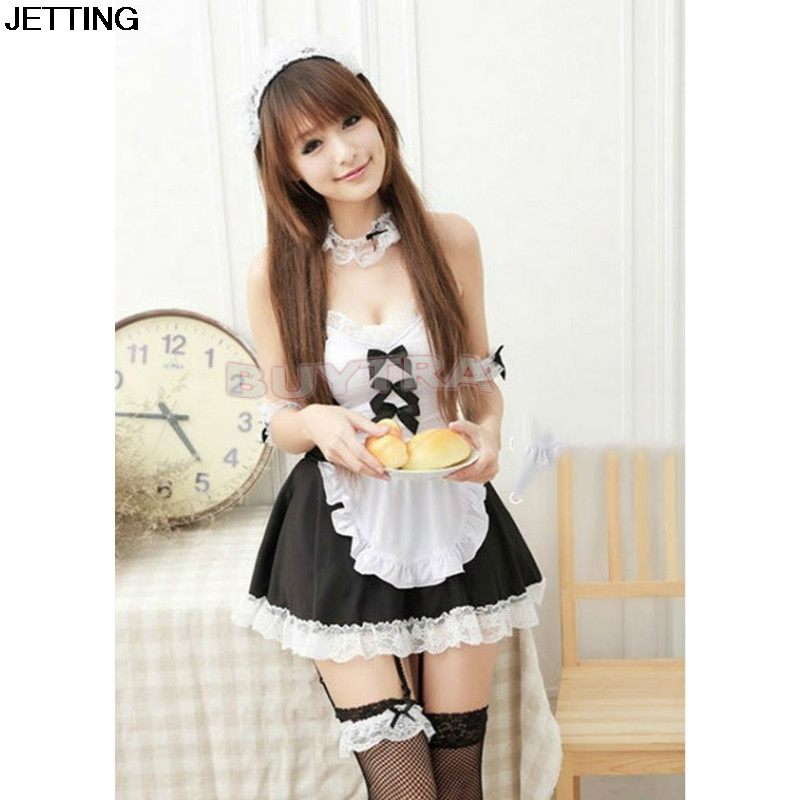1 pcs Lolita Princess Maid Dress Fancy Apron Dress Maid Outfits Uniform Cosplay Costume Dress
