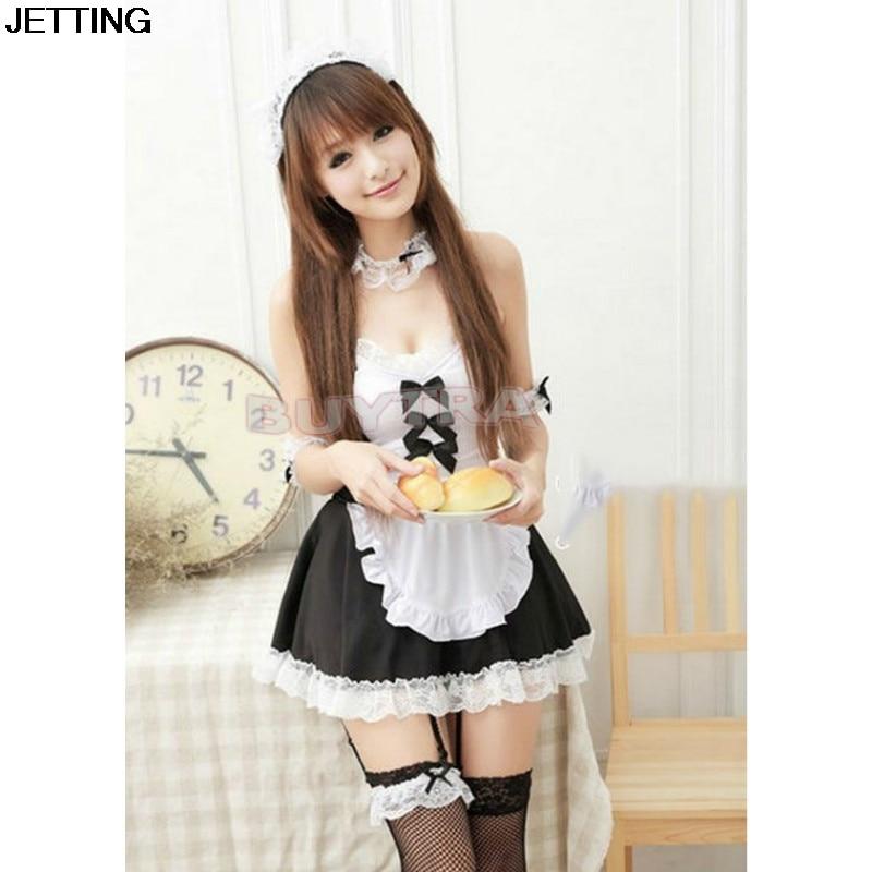 1 pcs Lolita Princess Maid Dress Fancy Apron Dress Maid Outfits Uniform Cosplay Costume Dress
