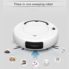 3 in 1 Rechargeable Automatic Smart Robot Vacuum Cleaner Mop Sweeping 1800PA Power Suction for Home Thin Carpet Pet Hair Cleaning Sweeper Drop Shipping цена и фото