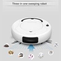 3 in 1 Wiederaufladbare Automatische Smart Roboter staubsauger Mopp Kehr 1800PA Power Saug für Hause Dünnen Teppich Haustier haar Cleanin-in Staubsauger aus Haushaltsgeräte bei