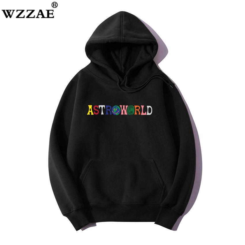2019 TRAVIS SCOTT Astroworld WISH YOU WERE HERE Embroidered Rainbow Letter Men Women Pullover Hoodies Fashion Hip Hop Sweatshirt