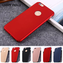LUOYY FENJJ Plain Matte Case For iPhone 6 6s 7 Plus Cover Hard Plastic Ultra thin Protect Phone 8 X Coque