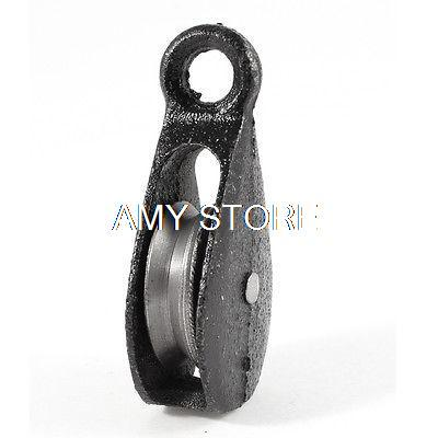 40kg/0.04T Cargo Lifting Tackle Single Groove Sheave Pulley Black