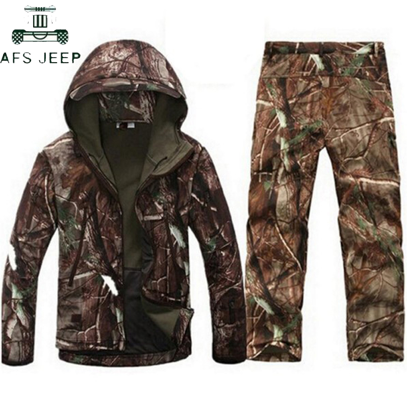 Military Tactical Uniform Tactical Softshell Camouflage Jacket Waterproof Huntingclothes Jackets Men's Military Jacket Outwear