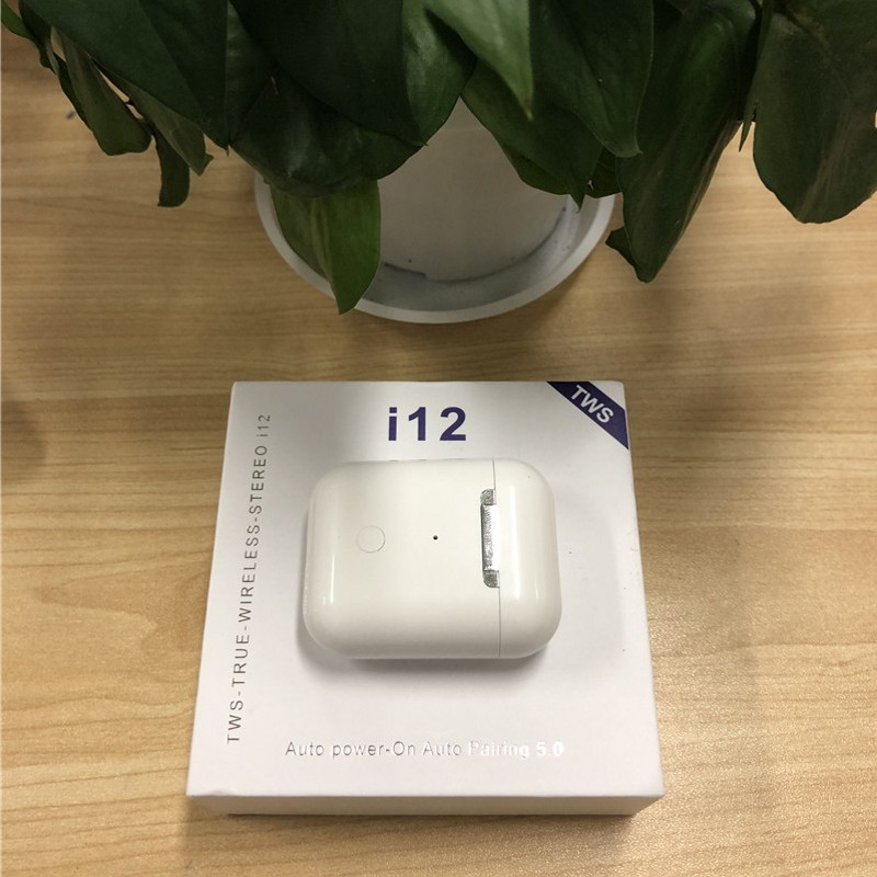 Drop shipping i12 TWS Bluetooth 5 0 Earphone 1:1 Double Calls Smart Touch  Earphones For iPhone Pk