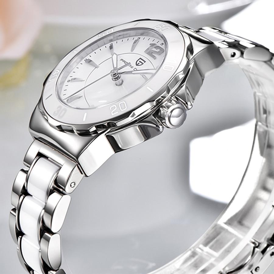 Dames Horloge PAGANI Top Brand New Fashion Vrouwen Analoge Quartz Horloge Vrouwelijke Keramische Horloges vrouwen Klok Relojes Mujer-in Dameshorloges van Horloges op  Groep 2