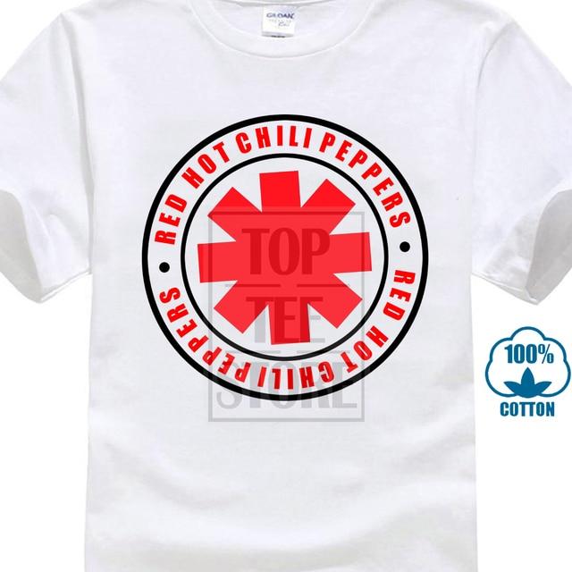a81ca5161dad7 Novo 2017 Homens de Red Hot Chili Peppers Asterisco Angustiado Camiseta  Californication Projeto da Rocha T