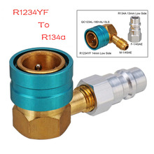 Adapters Car Air-conditioning Installation Coupler Fitting R1234YF To R134a Low Side Quick