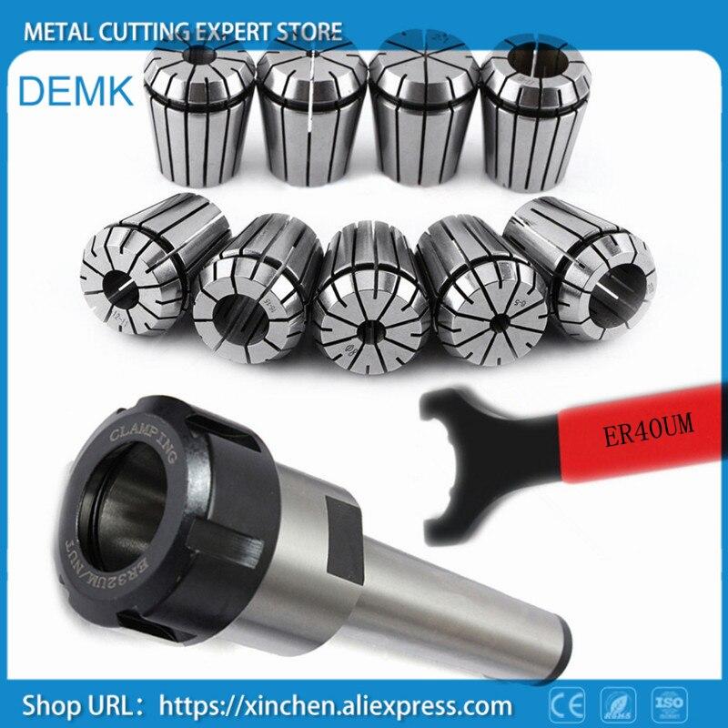 9pcs ER40 Spring Collets 1pcs MT4 ER40 1pcs wrench high precision spindle Mohs 4 ISO standard