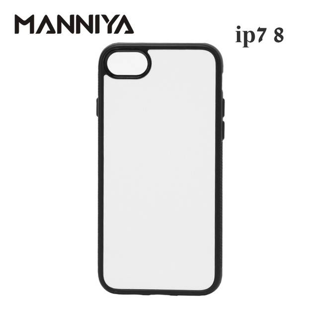 MANNIYA 2D Sublimation Blank rubber TPU+PC Case for iphone 7 8 SE 2020 with Aluminum Inserts  Free Shipping! 200pcs/lot