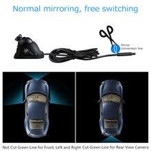 אוניברסלי HD המכונית מצלמה מראה מצלמה ראיית לילה אינפרא אדום אוטומטי הפוך מצלמות רכב חניה מצלמות