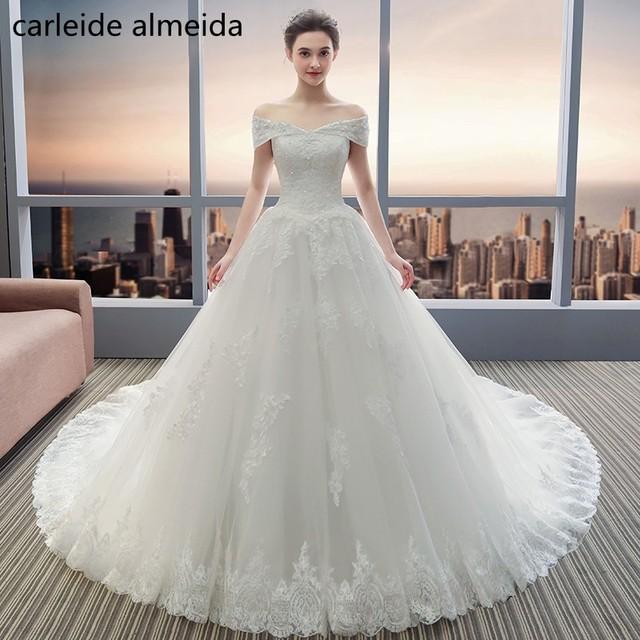 Vestido de Noiva Off the Shoulder Ball Gown Wedding Dresses with ...