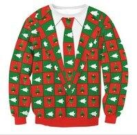 2017 Autumn And Winter Kawaii Women Santa Xmas Christmas Tree Novelty Fairisle Vintage Jumper Sweater