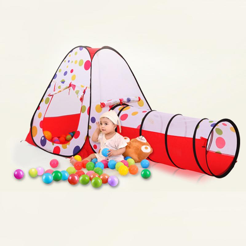 Combo Pool-Tube-Teepee 3 piezas Pop-up Play Tent Child Playing Tunnel - Deportes y aire libre - foto 4