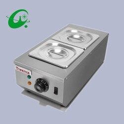 Commercial 2 pot chocolate melting pot electric chocolate fountain melting pot home use Chocolate melting pot furnaces