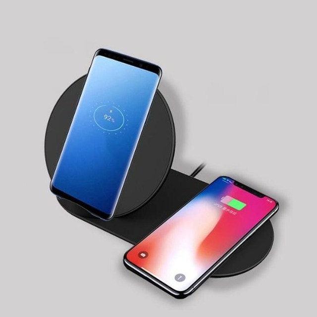 2In1 QI Wireless Charger for Apple iPhone X 8 Plus Watch 1 2 3 4 For Samsung S9 Note 9 S4 Phone Charging Pad for Huawei Mate20