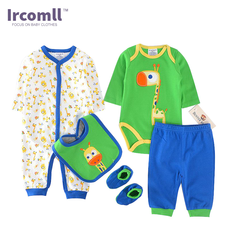 High Quality Clothing Sets For Newborns Romper+body suit+Pant+Bib+Shoes Long Sleeve Character Baby Sets For Infant Girl Boy new baby girl clothing sets lace tutu romper dress jumpersuit headband 2pcs set bebes infant 1st birthday superman costumes 0 2t