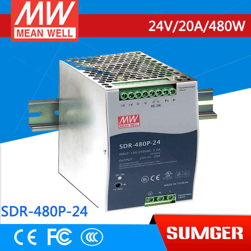[Sumger2] MEAN WELL original SDR-480P-24 24V 20A meanwell SDR-480P 480W  Industrial DIN RAIL with PFC and Parallel Function [] цена и фото