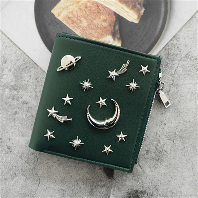 WESTERN AUSPICIOUS Wallet Women Newest Pink Green Gray Black Blue Female Wallet Zipper Fashion Sequined Lady Purse Card Holder