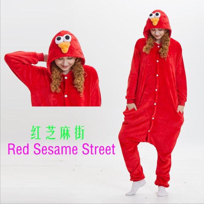 Christmas animal pajamas one piece cookie cosplay pajama onesie for adults costume animal Sesame Street jumpsuit pajama S-XL