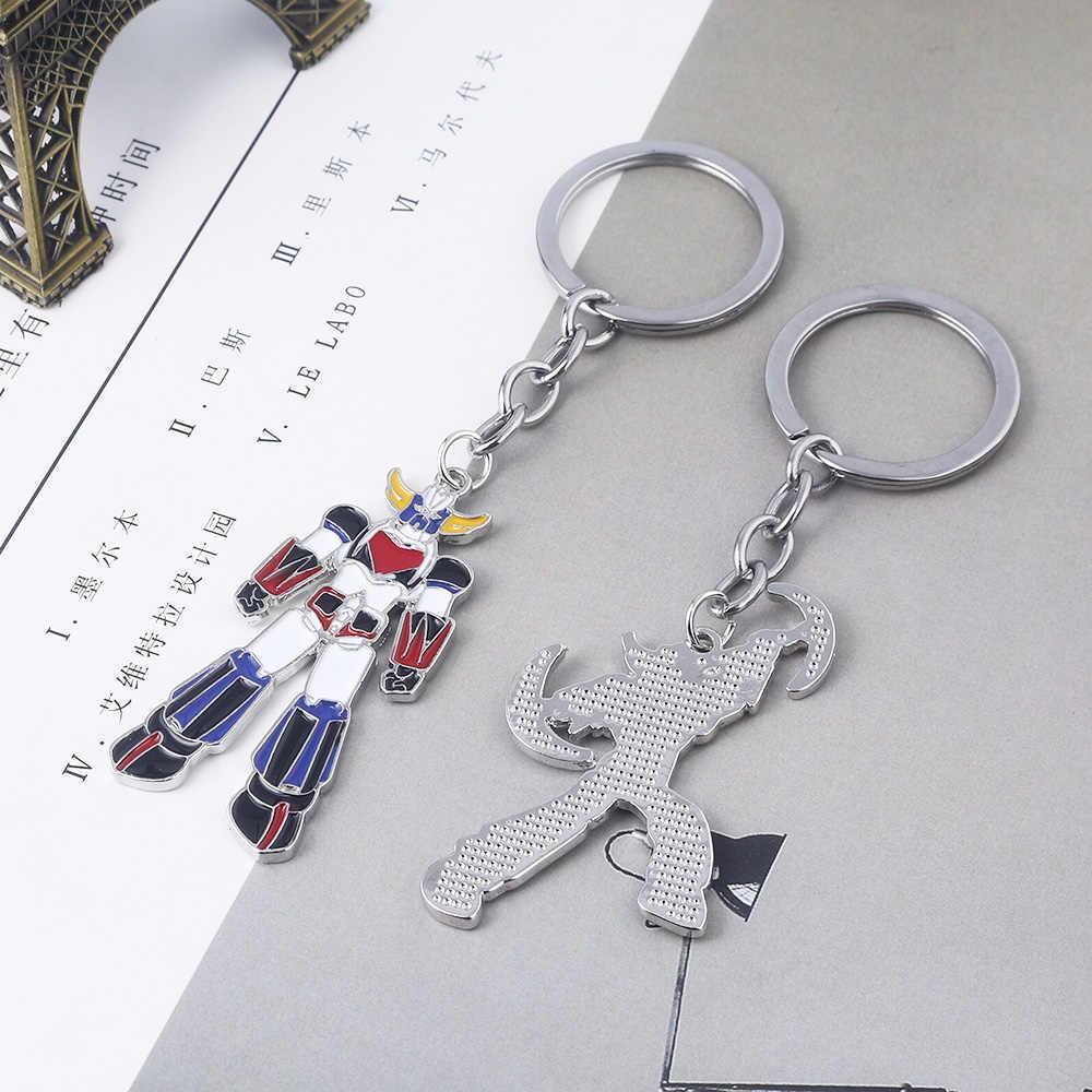 SG nouveau Mazinger Z porte-clés en métal UFO Robot Grendizer Logo pendentifs tour de cou voiture porte-clés femmes garçon Fans bijoux cadeau