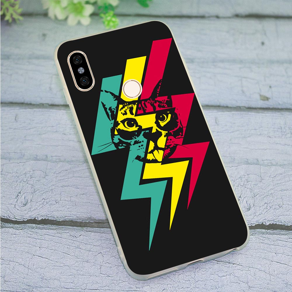 <font><b>Amazing</b></font> Cat Phone Cover for Redmi 6 Case Mi A1 A2 Lite Mi 8 9 SE Mix 2S Redmi 7 Note 3 4 5 7 Pro 4A 5A Prime image