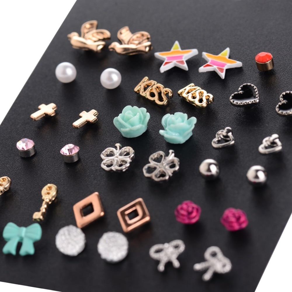 Accesorios de moda al por mayor Cheap Stud Earring Sets 18 pares / - Bisutería - foto 3