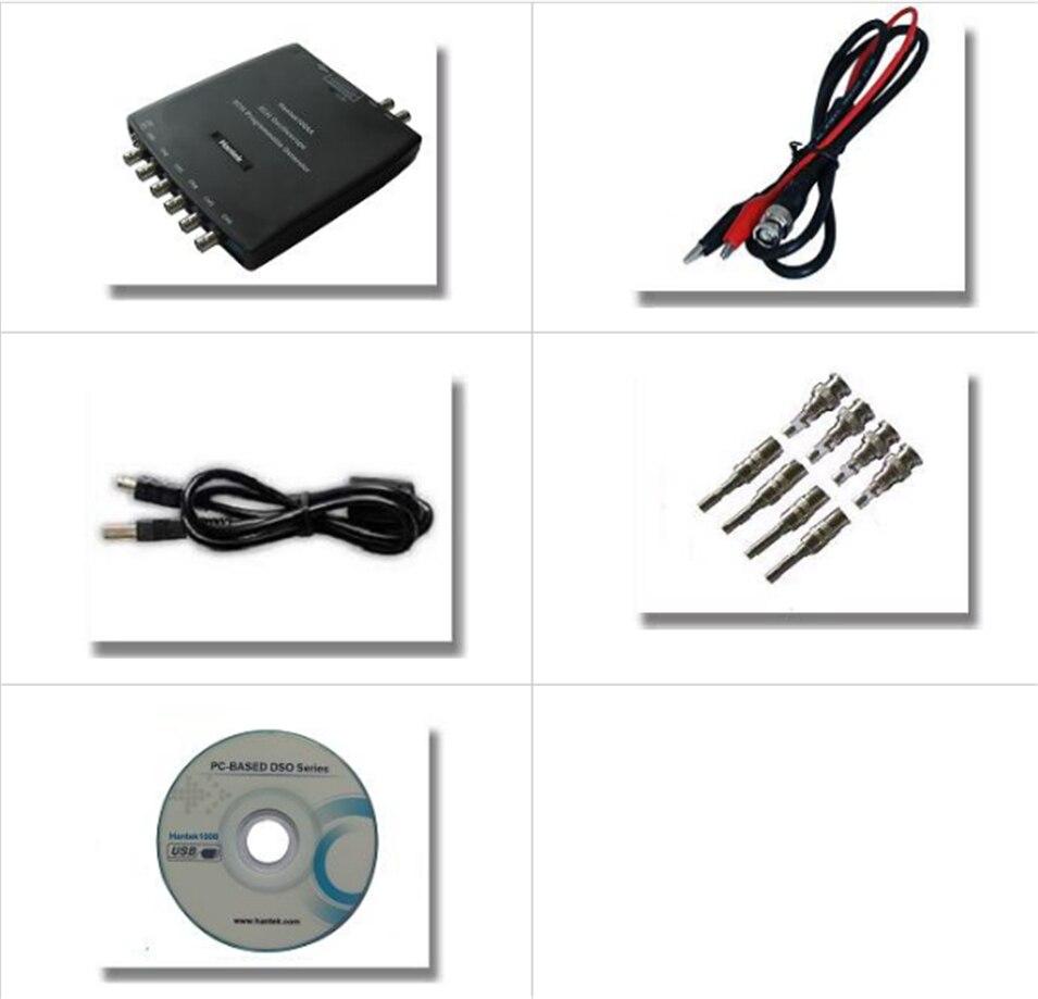 Диагностический осциллограф оригинальной Hantek1008A Hantek1008B 8 каналов PC USB цифровой хранения автомобильный виртуальный автомобиля генератор сиг...