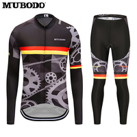 MUBODO 2018 Pro Team Long Cyling Jersey Sets Summer Sunscreen Clothes MTB Bicycle Shirts Men S