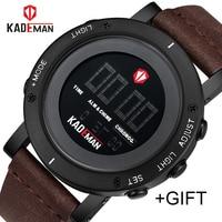 KADEMAN Army Military Luxury Brand Men's Watches Men Sports Watch Quartz Digital Clock Man Leather Wrist Watch Relogio Masculino