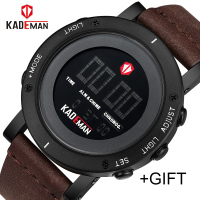 KADEMAN Army Military Luxury Brand Men's Watches Men Sports Watch Quartz Digital Clock Man Leather Wrist Watch Relogio Masculino