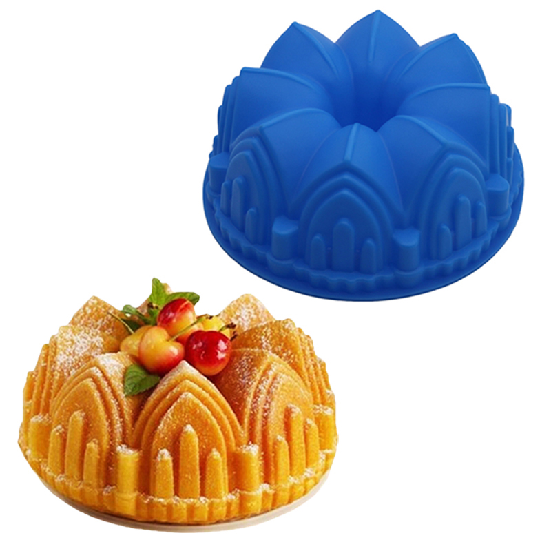 Crown Shaped Silicone Bakeware for Baking 3D Cakes and Pastries as Baking Tools Suitable for Home Kitchen