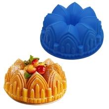 Moule a gateau baking pan large crown-shaped silicone cake m