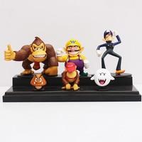3-8 см 6 шт./партия Супер Марио Брос Ослик Конг Waluigi Wario Ghost Goomba Фигурки Игрушка Кукла