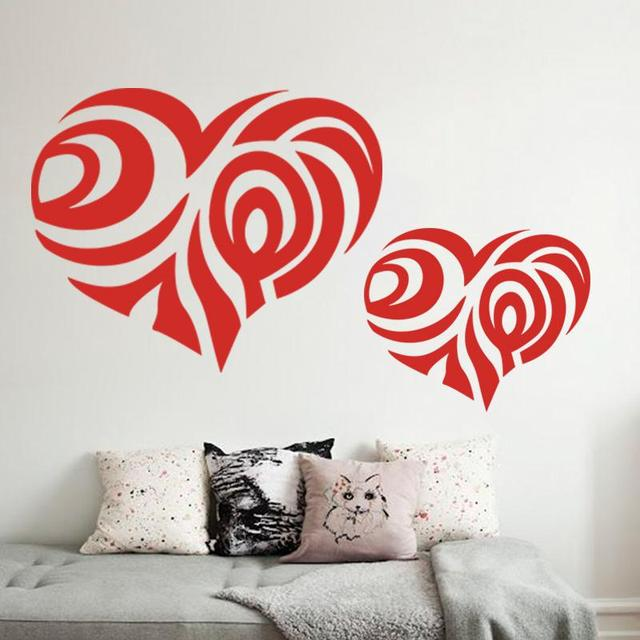 heart flower wall stickers home decoration wall decoration appointed