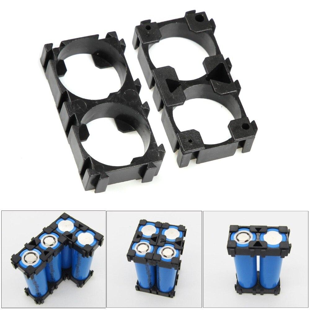 10pcs 2-Cells 18650 Battery Spacer Holders Cylindrical Battery Bracket Radiating Shell Plastic Bracket