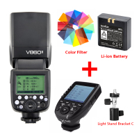Godox Ving V860II Li ion Battery Speedlite Flash For Sony A7 A6000 A6300 for Canon Nikon Fuji Olympus + Xpro Flash Transmitter