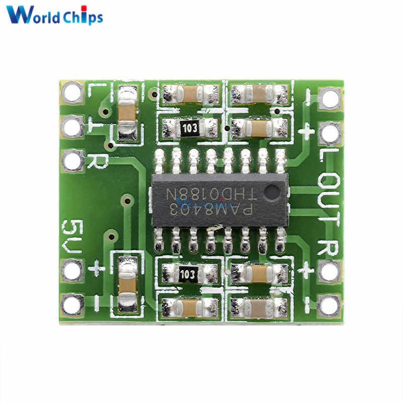 Diymore pam8403 5 v 3 w canal duplo mini placa de acionamento amplificador de potência digital para arduino classe d módulo amplificador de áudio estéreo