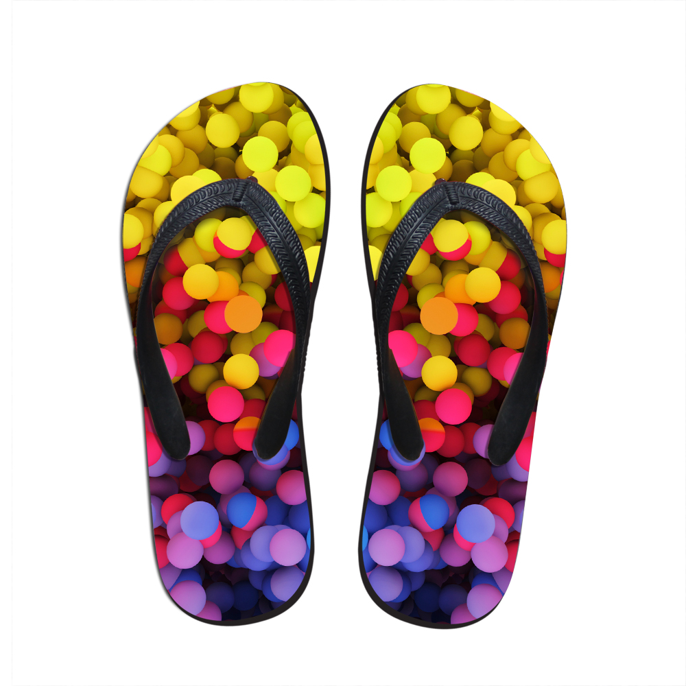 Forudesigns Ladies Summer Slippers, Rubber Flip Flops -1164