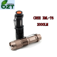 CREE XM-L T6 1600Lumens Cree led Torch Zoomable Cree Waterproof LED Flashlight Torch Light
