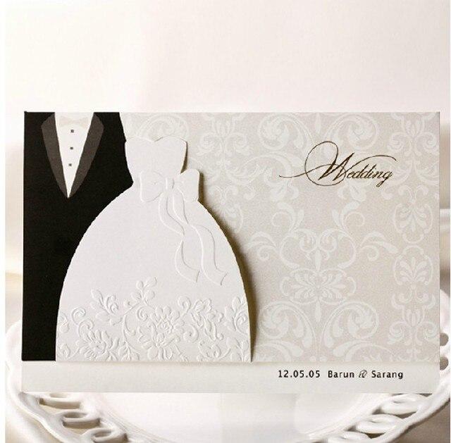 customized wedding party invitation card marriage boda festa invitations card matrimonio. Black Bedroom Furniture Sets. Home Design Ideas
