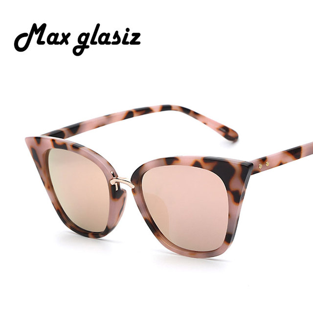 New 2016 Super Cute Cateyes Women Sunglasses Acetate Clear Summer Vintage Retro Glasses Fashion