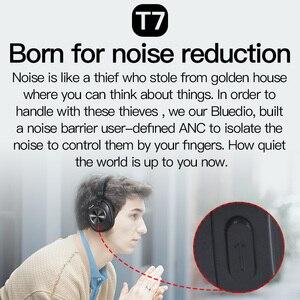 Image 2 - Bluedio T7 Bluetooth אוזניות ANC אלחוטי אוזניות bluetooth 5.0 HIFI קול עם 57mm רמקול זיהוי הפנים עבור טלפון