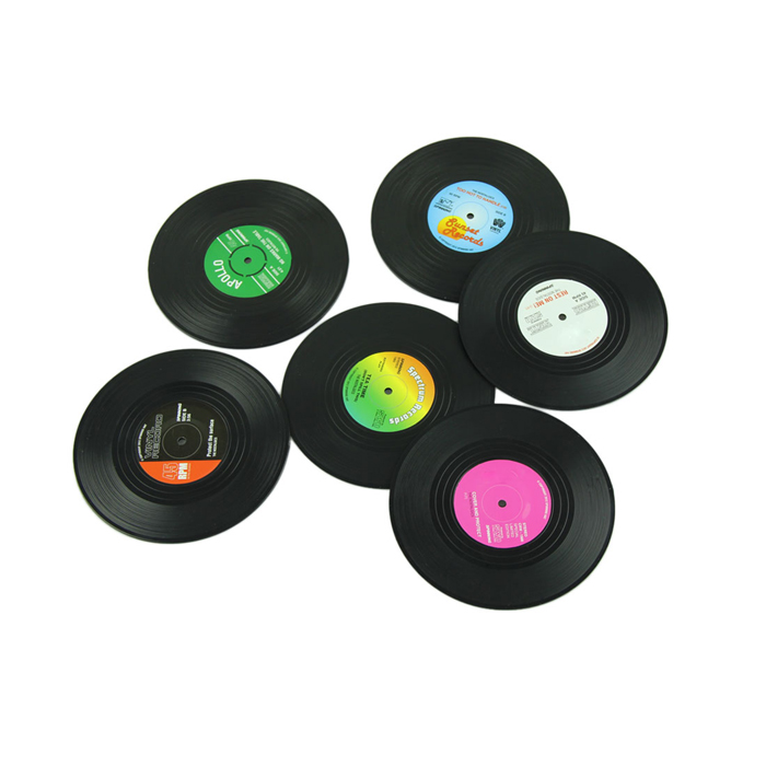 6 pcs record coasters